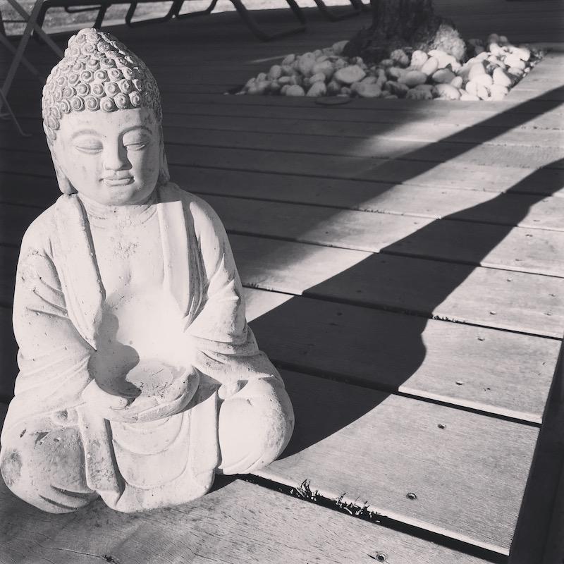 Boudha et son ombre, un symbole de la méditation vécue sur des kilomètres de footing